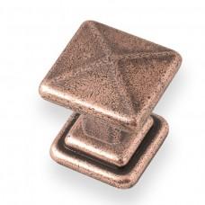 Cross Knob in Copper