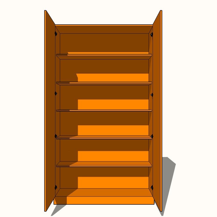 new product a93e6 b4845 Double Wardrobe - Fully Shelved (5 x Fixed Shelves) - 600mm ...