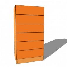 Bedroom Tall Boy Chest - 6 Drawer - 1180mm High - 480mm Deep