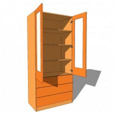 Linen Press Double Glazed Door - 600mm Deep (618mm inc Doors) - 2260mm High