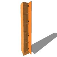 Splayed Wardrobe - Fully Shelved - 590mm Deep (618mm inc Doors) - 2260mm High