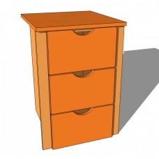 Internal Wardrobe Drawer Chest 3 Drawer
