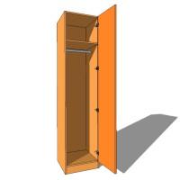 Single Wardrobe Single Hanging - 600mm Deep (618mm inc Doors) - 2260mm High