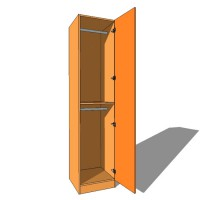 Single Wardrobe Double Hanging - 600mm Deep (618mm inc Doors) - 2260mm High