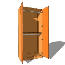 Double Door Wardrobe Double Hanging - 600mm Deep (618mm inc Doors) - 2260mm High