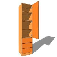 Linen Press Single Door - 600mm Deep (618mm inc Doors) - 2260mm High