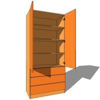 Linen Press Double Door