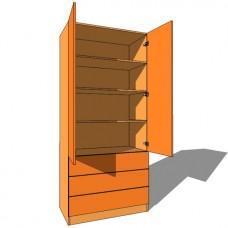 Linen Press Double Door - 600mm Deep (618mm inc Doors) - 2260mm High