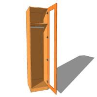 Single Wardrobe Single Hanging Full Glazed - 600mm Deep (618mm inc Doors) - 2260mm High