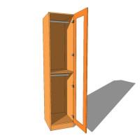Single Wardrobe Double Hanging Full Glazed - 600mm Deep (618mm inc Doors) - 2260mm High