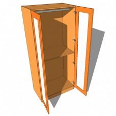 Double Wardrobe Double Hanging Full Glazed - 600mm Deep (618mm inc Doors) - 2260mm High