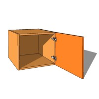 Top Box/Bridging Unit - Single Door - 420mm High - 600mm Deep