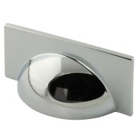 Crofts & Assinder Monmouth Cup (Square) Cabinet Handle - Polished Chrome