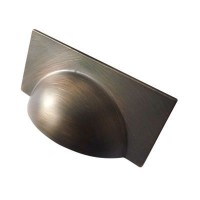 Crofts & Assinder Monmouth Cup (Square) Cabinet Handle - American Copper