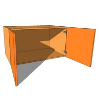 Top Box/Bridging Unit - Double Door - 540mm High - 600mm Deep