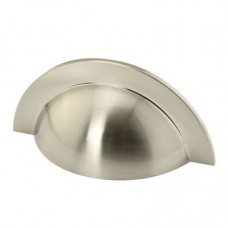 Crofts & Assinder Monmouth Cabinet Cup (Round) Handle - Brushed Satin Nickel
