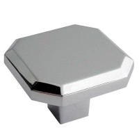Crofts & Assinder Corbusier Zamak Cabinet Knob -  Chrome