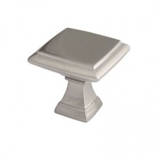 Crofts & Assinder Wellington Zamak Cabinet Knob - Brushed Satin Nickel