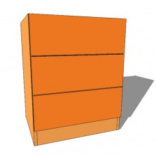 Bedroom Chest 3 Drawer - 760mm High - 480mm Deep