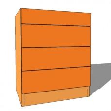 Bedroom Chest 4 Drawer - Standard Height - 480mm Deep