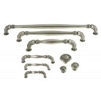 Crofts and Assinder Acanthus Pull Handle in Nickel Pewter