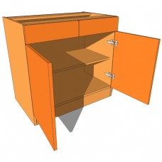 Bedroom Cabinet Drawerline Double Door & Drawer 480mm Deep 760mm High
