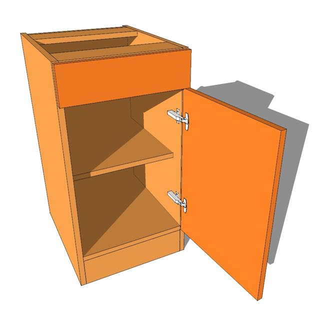 Bedroom Cabinet Drawerline Single Door Drawer 480mm Deep