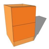 2 Drawer Bedside Cabinet - 640mm High - 480mm Deep