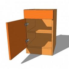 Single Drawer and Door Bedside Cabinet - 640mm High - 480mm Deep