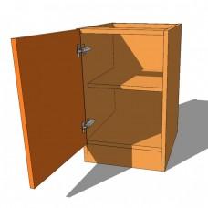 Single Door Bedside Cabinet - 640mm High - 480mm Deep